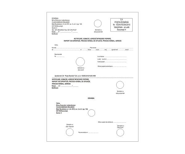 Comunicari, Citatii, Procese-Verbale Personalizate