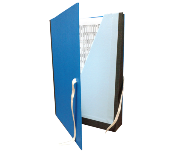 Coperta arhivare cu buzunar albastra