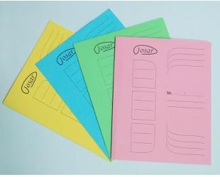 Dosar color din carton, simplu